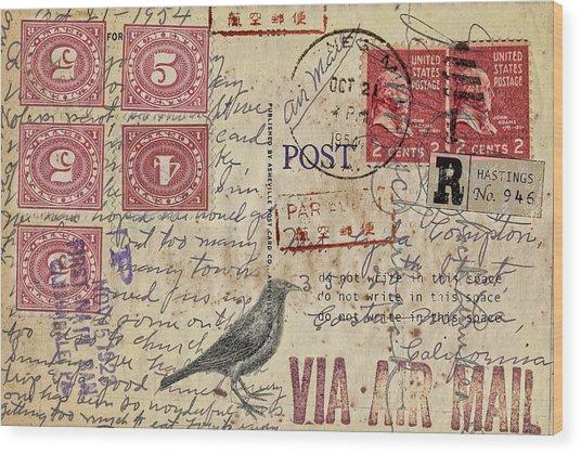 Lyda Compton Postcard Wood Print