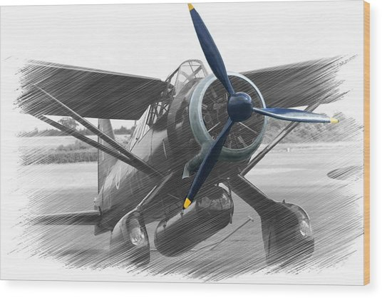 Lysander In Readiness Wood Print by Donald Turner