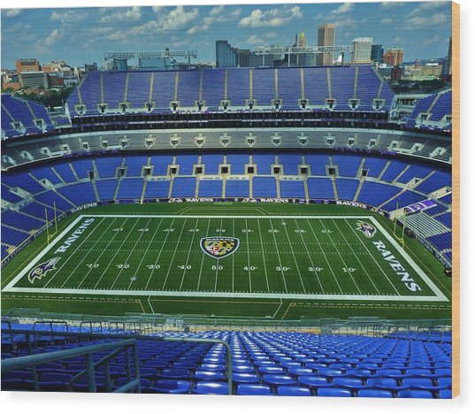 M And T Bank Stadium Wood Print