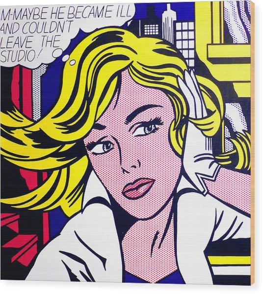 M-maybe - Roy Lichtenstein  Wood Print
