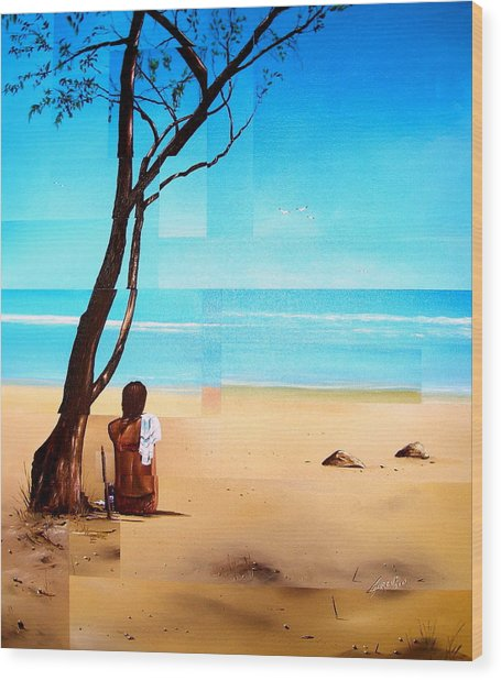 Ma Plage Privee Wood Print by Laurend Doumba