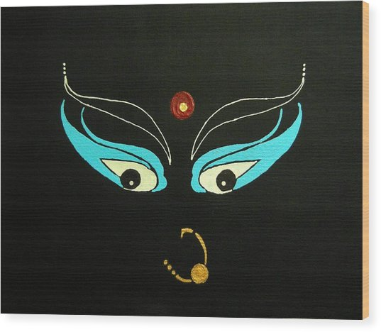 Maa Kali II Wood Print