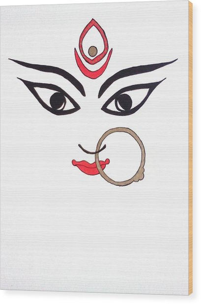 Maa Kali Wood Print