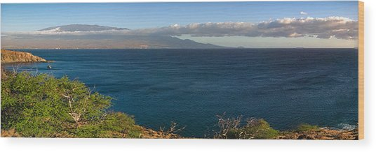 Maalea Bay Overlook   Wood Print