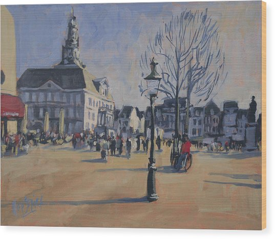 Maastricht On The Last Day Of 2014 Wood Print