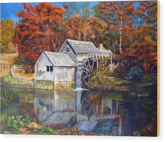 Mabry Mill Blue Ridge Virginia Wood Print