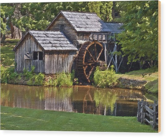 Mabry Mill In Summer Wood Print