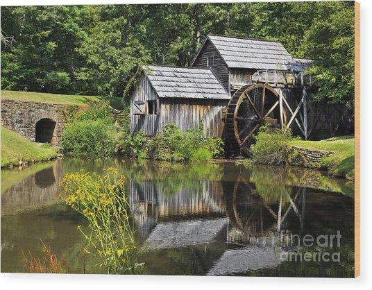 Mabry Mill In Virginia Wood Print