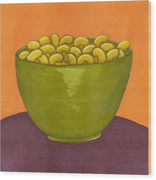 Macaroni And Cheese Wood Print by Christy Beckwith