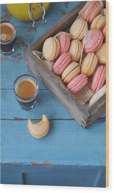 Macarons Wood Print by Photos By Irina Meliukh