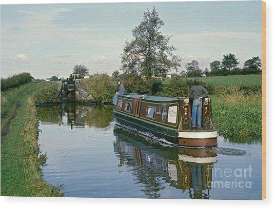 Macclesfield Canal 1975 Wood Print by David Davies