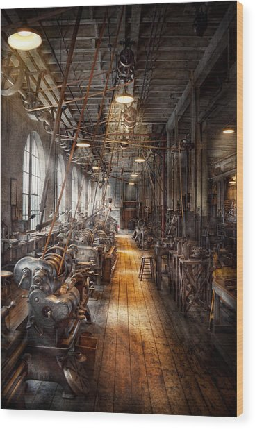 Machinist - Welcome To The Workshop Wood Print