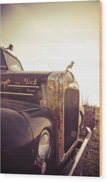 Mack Profile Wood Print