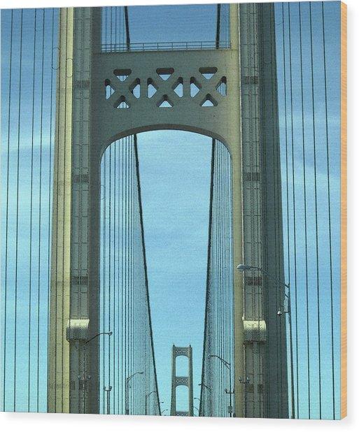 Mackinac Bridge Detail 2 Wood Print