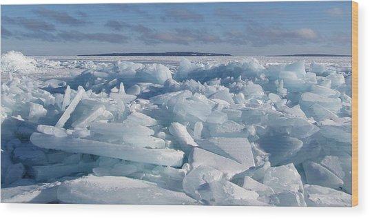 Mackinac Island Across The Ice Wood Print