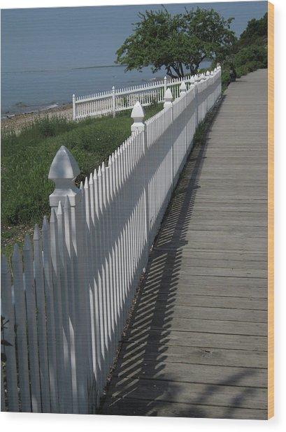 Mackinac Island Boardwalk Wood Print