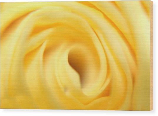 Macro Yellow Rose Wood Print