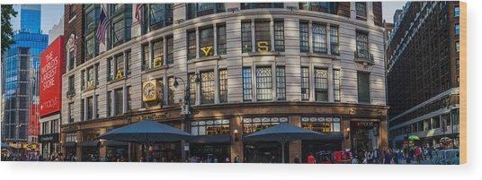 Macy's New York Panoramic Wood Print