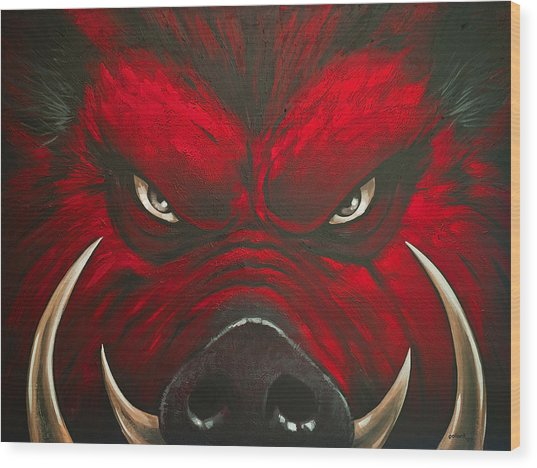 Mad Hog Wood Print