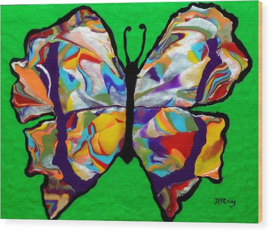 Madam Butterfly Wood Print