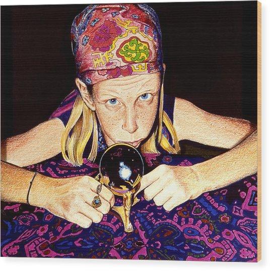 Madame Moiselle Wood Print