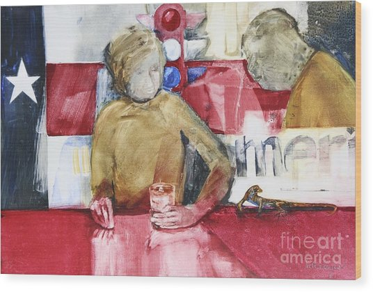 Made In America Wood Print by Helen Hayes