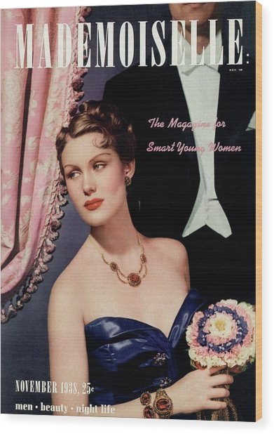 Mademoiselle Cover Featuring A Model In An Opera Wood Print