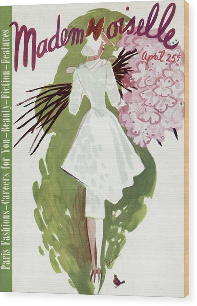 Mademoiselle Cover Featuring A Woman Carrying Wood Print
