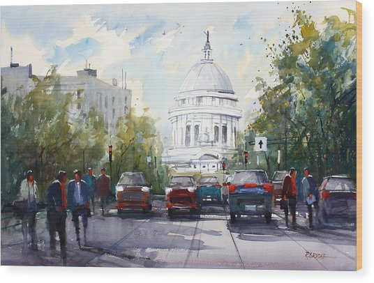 Madison - Capitol Wood Print