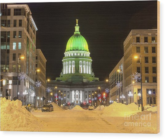Madison Capitol Wood Print