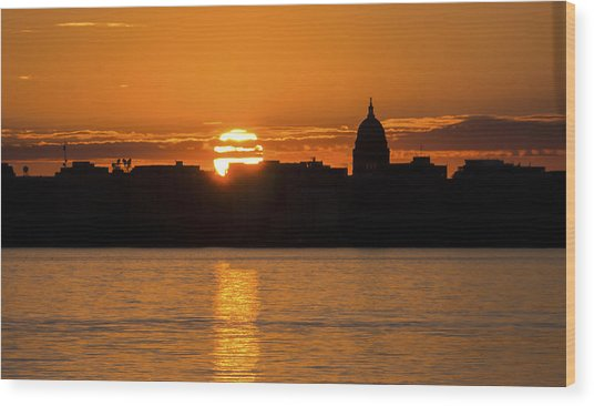 Madison Sunset Wood Print