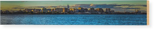 Madison Twilight Panorama Wood Print