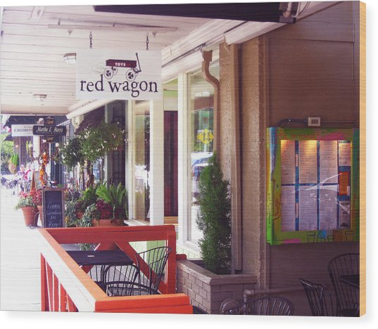 Madison Valley Street Scene 1 Wood Print