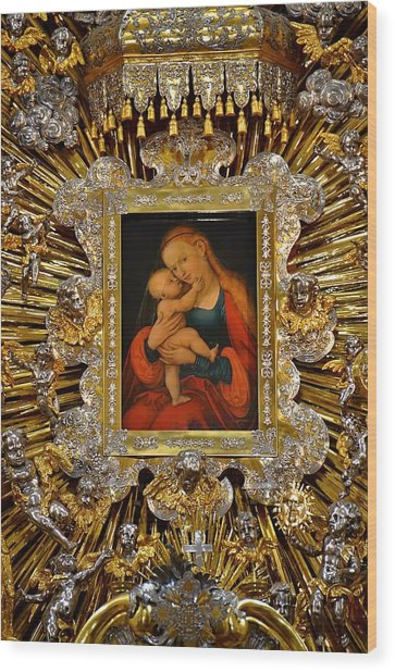 Madonna And Child By Lucas Cranach Wood Print