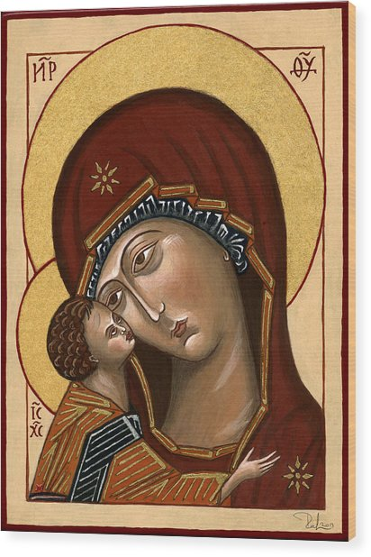 Madonna Della Tenerezza - Our Lady Of Tenderness Wood Print