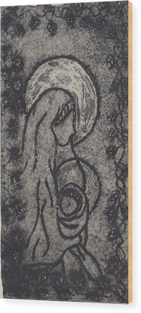 Madonna Wood Print