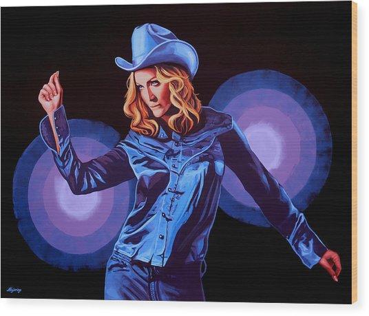 Madonna Painting Wood Print
