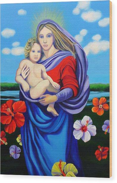 Madonna Rafaelina Wood Print