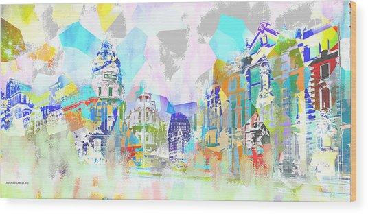 Madrid 1 Wood Print