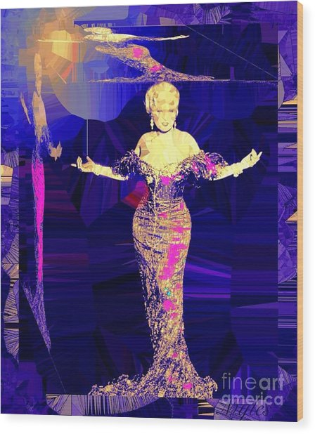 Mae West. Ladies Embrace Your Curves Wood Print
