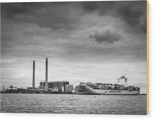 Maersk Laberinto. Wood Print