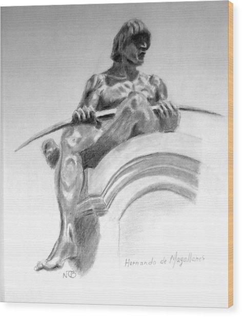 Magellan Memorial Wood Print