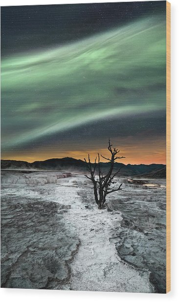 Magic Aurora Wood Print