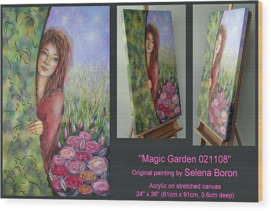 Magic Garden 021108 Comp Wood Print