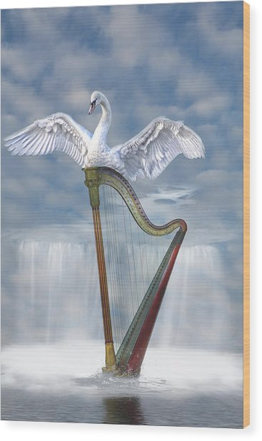 Magic Harp  Wood Print