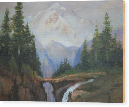 Magic Mountain Wood Print