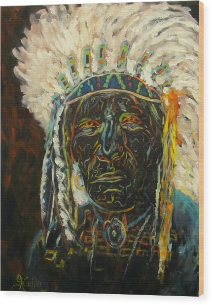 Magic Powers,  Native American Indian Chief Wood Print