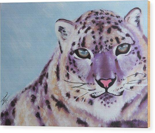 Magic Snow Leopard Wood Print by Inti Garcia