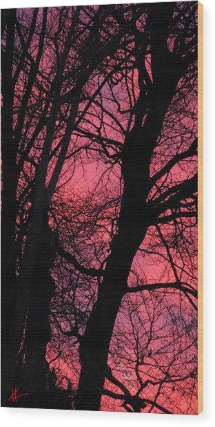 Magic Sunset  Wood Print