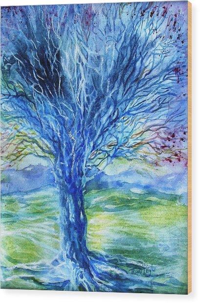 Magic Thorn Tree The Celtic Tree Of Life Wood Print